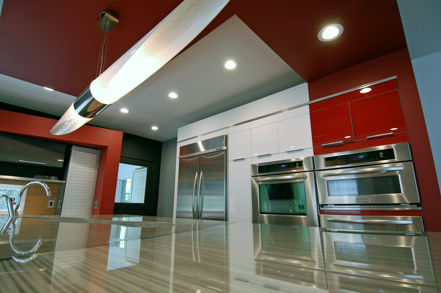 Red Time Continuum Custom Modern Kitchen In Charlotte Nc The Result Of A Successful Collaboration Between Designer