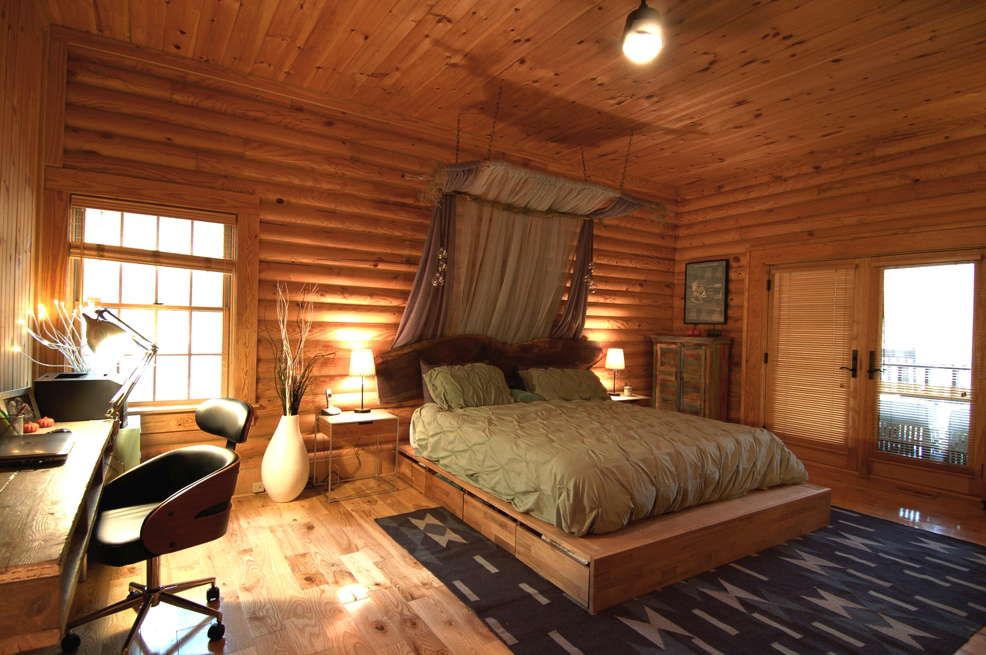 Rustic Modern Log Cabin North Carolina Freespace